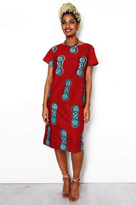 african style dresses online sapellecom new summer red african print straight cut shift dress sapelle