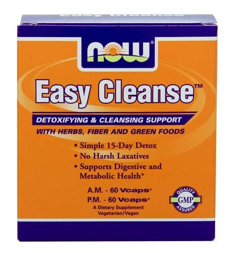 Detox Cleanse For by Easy Cleanse Detox Cleansing System Now Foods 2 Bottles