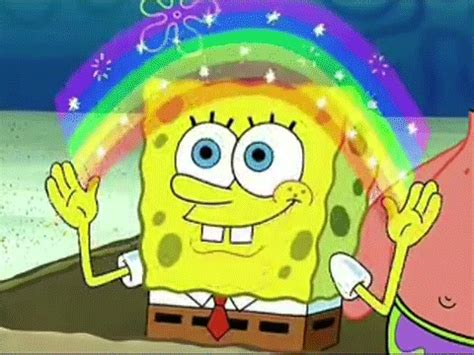Spongebob Magic Meme - image gallery spongebob rainbow