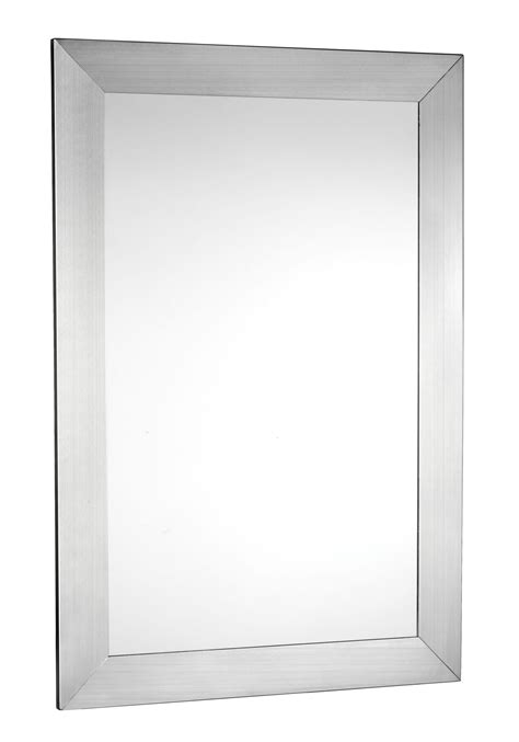 metal framed bathroom mirrors stainless steel mirror frame brushed stainless steel