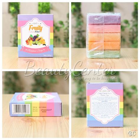 Bpom Baru Murah Fruity Rainbow Soap 10 In 1 Fruitam Berkualitas Jual Sabun Fruity 10in1 Fruitamin Bpom Rainbow Soap Di