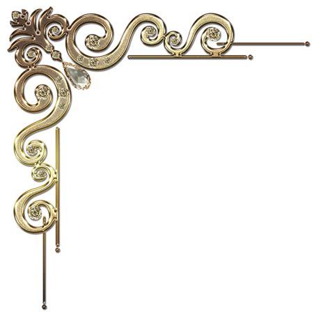 corner frames decorative corner with citrine in gold by lyotta