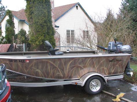 aluminum boat camo paint jobs edge marine building my boat www ifish net