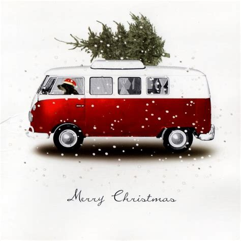 volkswagen christmas vintage vw van christmas card this was how we brought