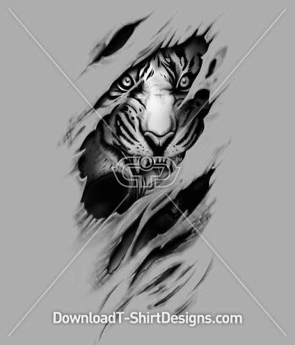 Tshirt Alpa Animal rip torn tiger animal