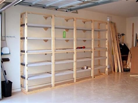 building shelves  garage installation tips home interiors