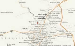 Saltillo Mexico Map by Saltillo Location Guide