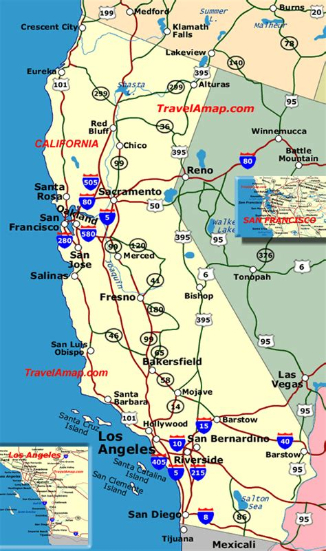 california map of highways california highways map