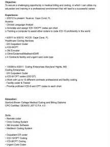 medical coder resume sample medical billing and