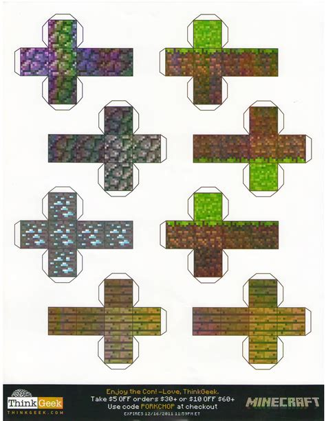 Minecraft Papercraft Templates - minecraft paper craft paper crafts ideas for