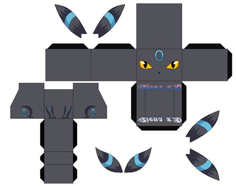 Papercraft Umbreon - cubeecraft lugia images images