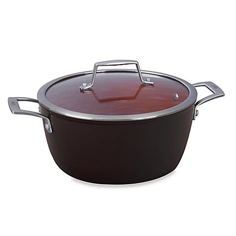 dutch oven bed bath and beyond bialetti 174 terracotta xtra 5 qt covered dutch oven in