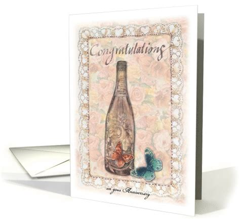 Wedding Anniversary Cards For Niece by Niece Anniversary Congratulations Chagne Roses Card