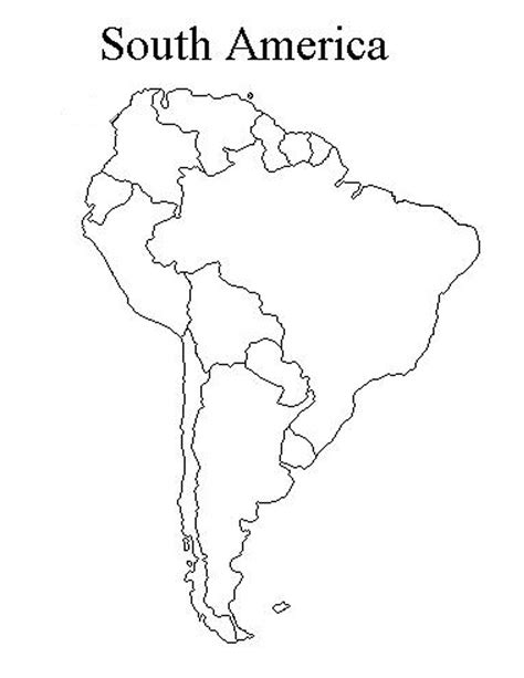 south america map outline blank maps mr johnson class information
