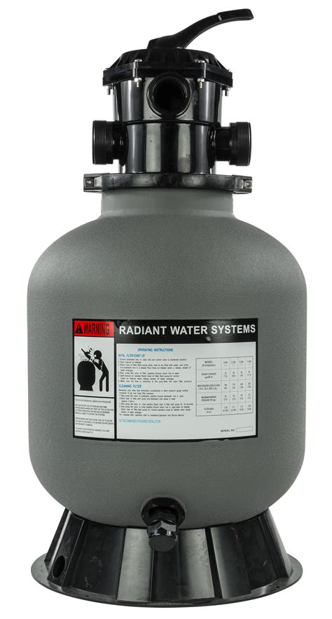 rx clear  radiant sand filter  valve  lbs
