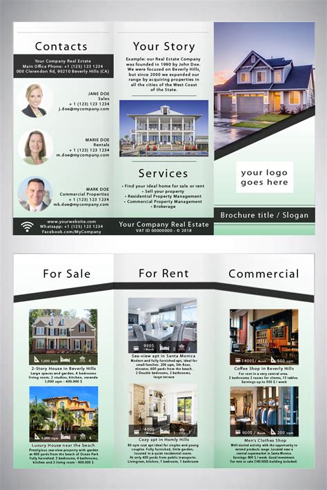 Commercial Real Estate Brochure Template by Commercial Real Estate Brochure Template Gecce