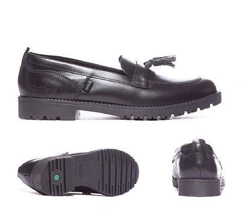 junior loafers kickers junior lachly loafer shoe black footasylum