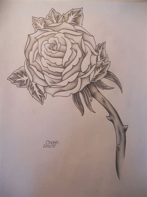 black and white rose tattoo pictures