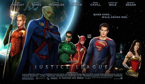 film marvel dan dc justice league movie poster by daniel morpheus on deviantart
