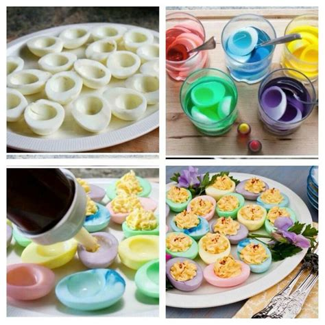 colored deviled eggs for easter colored deviled eggs food