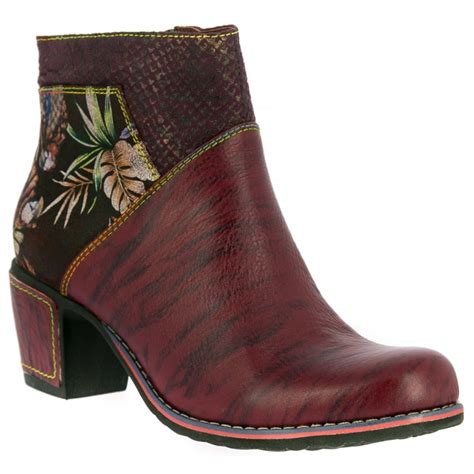 wine boots vita womens christie 05 wine zip up heeled ankle boots