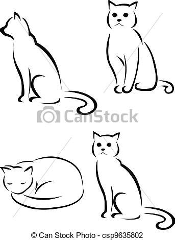 vector illustration of cat silhouette vector illustration