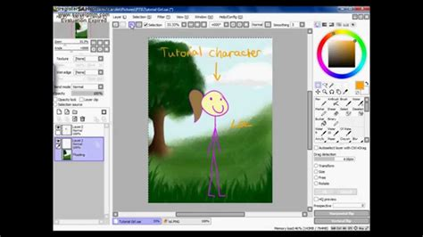 paint tool sai gradient tutorial paint tool sai putting backgrounds in tutorial eng