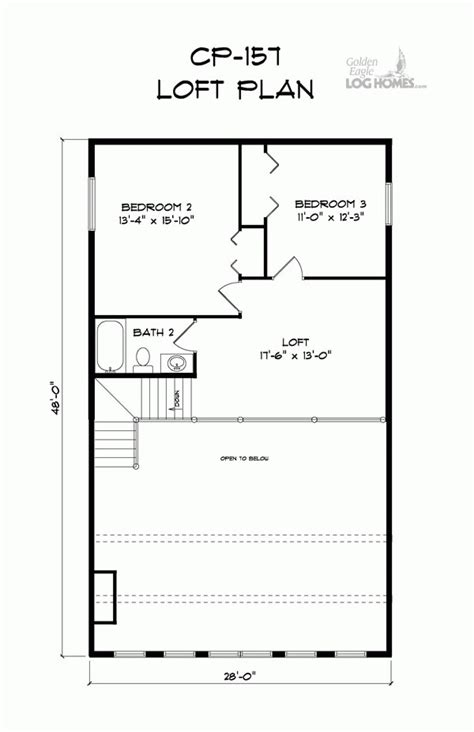 golden eagle log and timber homes floor plan details