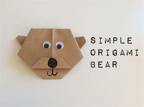Origami Bears - simple origami school