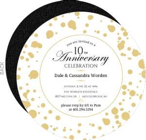 10th Anniversary Invitations 10 Year Anniversary Invitation Templates
