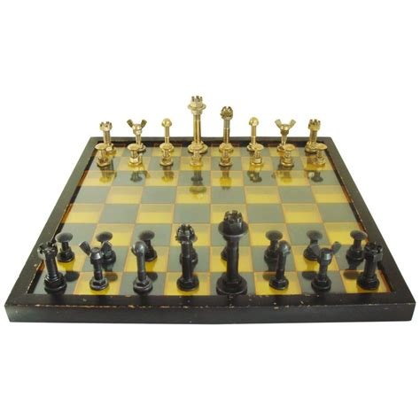 mid century modern chess set large mid century modern industrial chess set with 3d