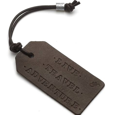 Leather Tag personalised leather luggage tag by chambers beau