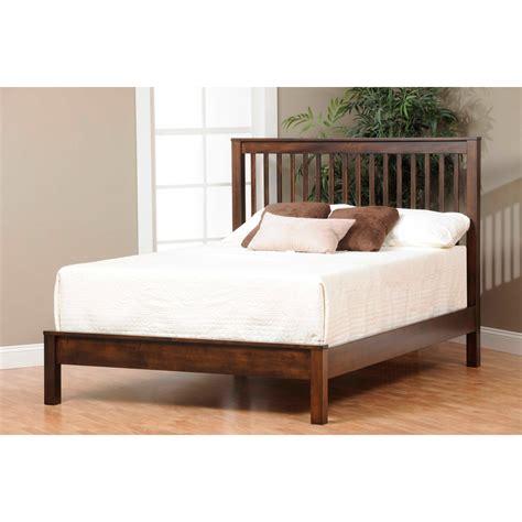 slat bed mission slat bed amish crafted furniture