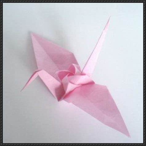 Advanced Origami Crane - origami crane free diagram