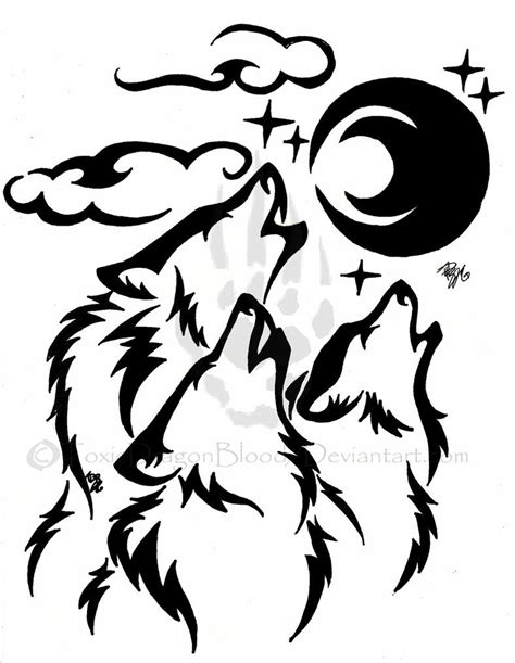 howling wolf tribal tattoo images for gt tribal wolf drawing howling drawings