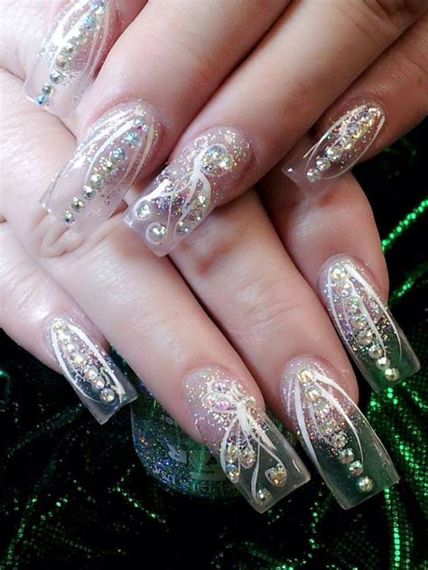 imagenes de uñas acrilicas transparentes las 25 mejores ideas sobre u 241 as transparentes en pinterest