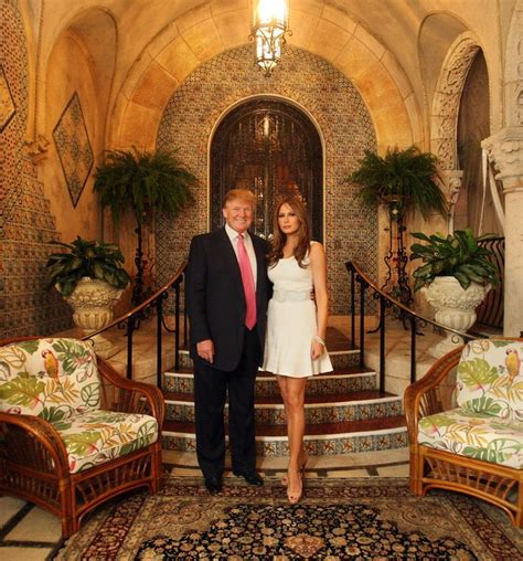 how many houses does trump own donald and melania trump pose for a photo in front of