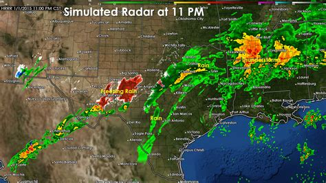 weather map texas forecast 7 pm texas weather update texas chasers