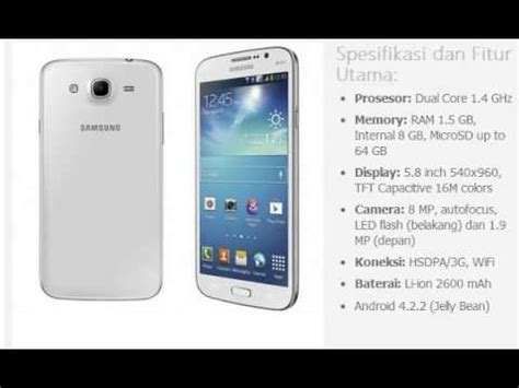 Hp Samsung Galaxy V Update harga hp samsung galaxy mega 5 8gadgettekno