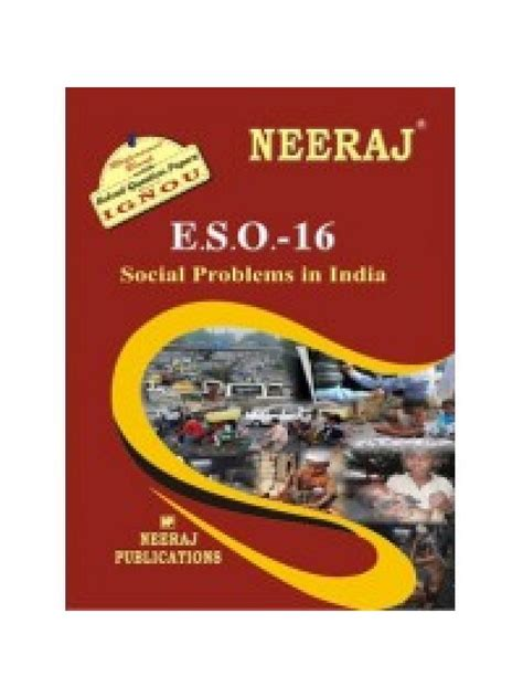 Ignou Mba Guide Books by Eso 16 Social Problems In India Ignou Guide Book For