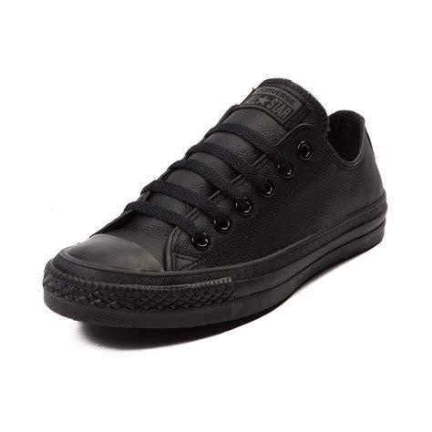 38e5 converse chuck all lo leather black mono