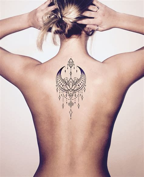 tribal tattoos temporary talia tribal boho moon lotus chandelier temporary