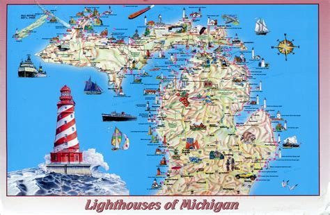 map michigan usa usa michigan remembering letters and postcards