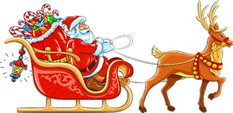 Santa Claus Sleigh Clipart Free Clip Art Santa And Reindeer