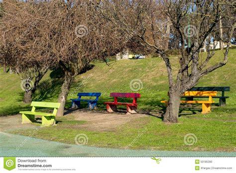children s park bench children park attraction stock photo image 50185390