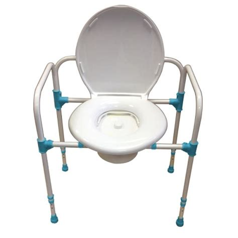 big heavy duty commode chair folding adjustable
