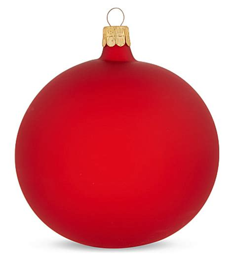 ornex plain red bauble selfridges com