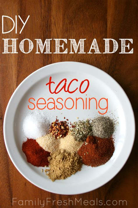 diy taco seasoning family fresh meals