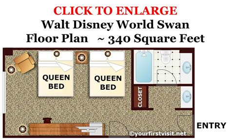 swan hotel room layout photo tour of a standard room at the disney world swan