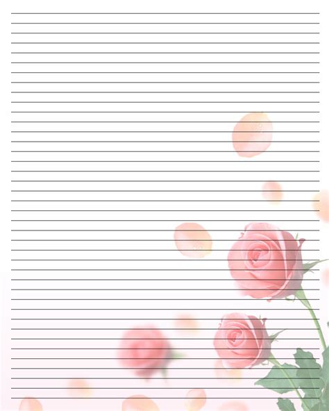 free printable pretty lined paper best photos of free printable stationery writing paper